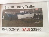 Utility & ATV TRAILERS AVAILABLE