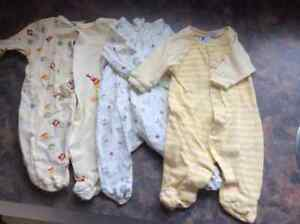 Newborn sleepers and onesies