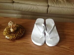 White Between Toe Sandals with BLING St. John's Newfoundland image 3