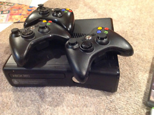 X Box 360 with kinect and  3 controlers