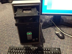 Desktop computer and 20 inch LCD monitor