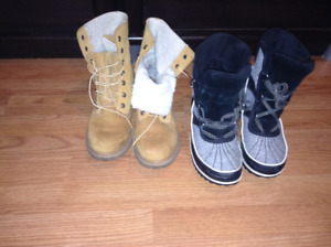 Womens Timberlands and Sorel boots size 8.5 & 10 each$150