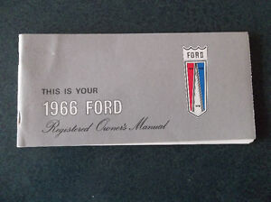 1966 Ford glove box owner's manual
