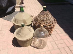 Demijohns- Various sizes