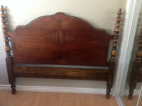 Vintage  solid wood bed frame