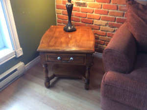 Wood End Table (1 or 2)