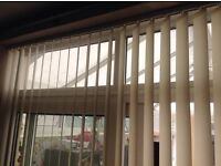Cream Vertical Blinds Complete with Track
