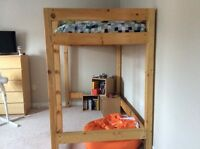 Solid pine loft bed