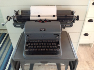 Vintage Royal touch control typewriter with glass keys!