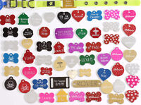 4.00 Pet Tags Dog Cats all Shapes Sizes