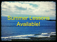 SUMMER LESSONS AND RESERVING FOR SEPTEMBER!