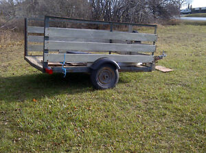 farm trailer 6'x7' long inside with tilting bed, needs work