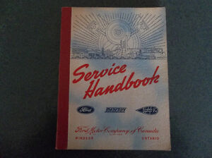 1932 1933 1934 1936 1941 Ford Mercury Lincoln Service Handbook London Ontario image 1
