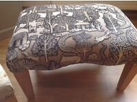 Footstool larger than normal great for sofa ad on £80 a meter embossed thick fabric glenrothes