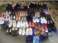 60 pairs joblot shoes mixed some of them new and used £1 per pair in whole sale