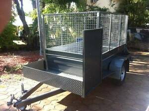 L@@K>NEW EXTREME H/DUTY 8X5 MOWER TRAILER W / FRONT PLATFORM Brisbane Region Preview