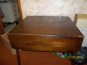 Double Drop Leaf Table Solid Wood Construction Kawartha Lakes Peterborough Area image 3