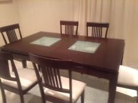 Dining table with 6 chairs $600 OBO