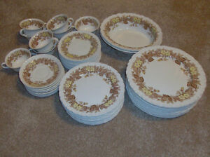 REDUCED! VINTAGE Plates, cups, bowls-Wildbriar-53 pieces