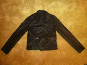 Women's black leather jacket for sale