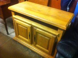 Large rustic solid oak cabinet