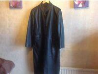 Kit ladies real leather coat black size 12 used £8