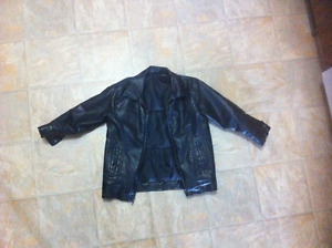 Size 6 boys leather jacket