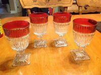 Vintage ruby flash glasses