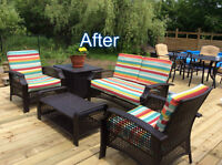 60% off  -PATIO CUSHION RECOVERING - Fabric is now 50-60% off