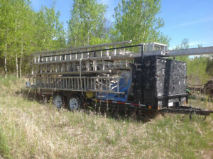 Professional scaffolding and trailer for sale.