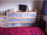 2 x chest of drawers