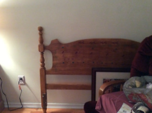 Solid maple double bed headboard