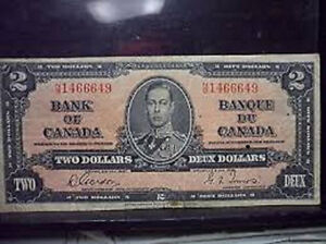 1937 Bills WANTED London Ontario image 1