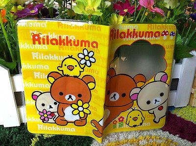 San-X Rilakkuma Relax Bear Cute Passport Cover Case Wallet