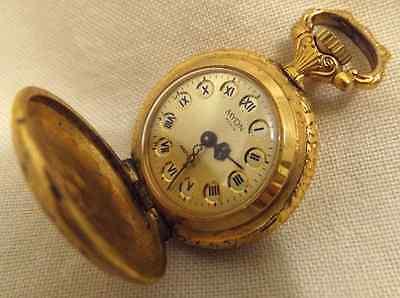 Vintage Myon Paris Mechanical Gold Plated Pendant Watch