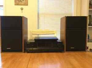 Bose speakers Sony Receiver and Blue Ray Disc