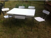 1960/70's LAMINATED TABLE AND CHAIRS