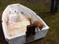 Plastic/fibreglass small boat for sale