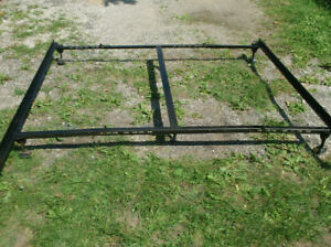 Queen bed frame with head and foot board ends