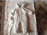 Mini-club baby snow suit 9/12 mths used £2