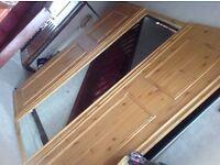 Wardrobe sliding doors 3x pieces 2 wood one mirror £50