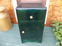 Antique wood cabinet or night stand