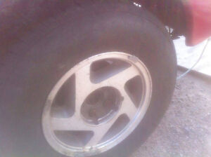 ranger tires already on the rims, step side tailgate and bumper
