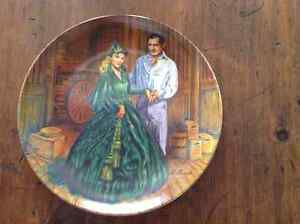 """** 1984 GONE WITH THE WIND - BRADFORD PLATE ~ """"SCARLETT'S GREEN"""""""