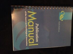 Publication manual: The American psychology association 6th ed.