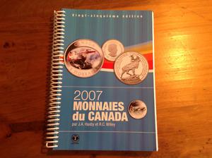 Livre monnaies du Canada 2007