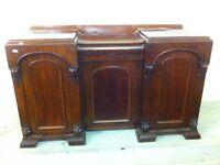 Antique solid mahogany break front Sideboard
