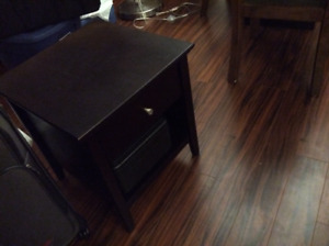 Night stand. Dark Brown. Single Drawer. 25 dollars