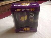 Box glass cup for present 40th gift new £2