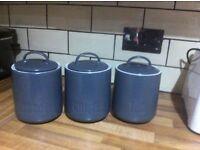 Tea coffee sugar jars (can deliver locally)